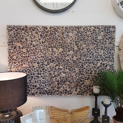 Piedras Wall Panel - White Wash Grain/127x85cm
