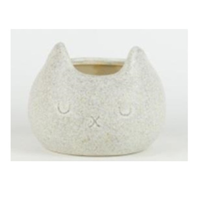 Piggy Ceramic Planter - Speckled White