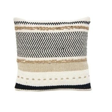 Pihu Cushion - Black White & Natural