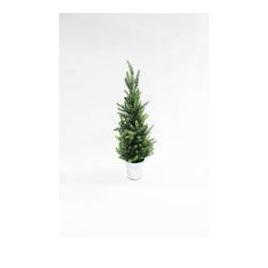 Pine Silver Glitter Tree 43cm