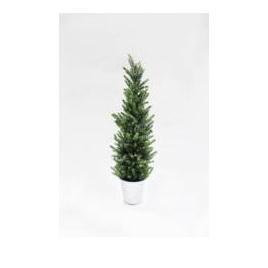 Pine Silver Glitter Tree 58cm