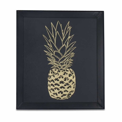 Pineapple Art Black and Gold