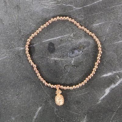 Pineapple Bracelet - Rose Gold