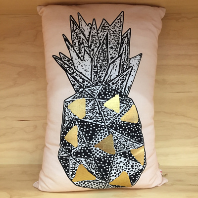 Pineapple Stamp Cushion