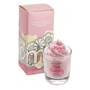 Pink Bubbly Pipped Candle