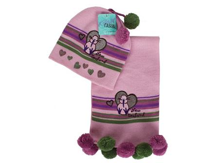 Pink Children's Beanie and scarf set