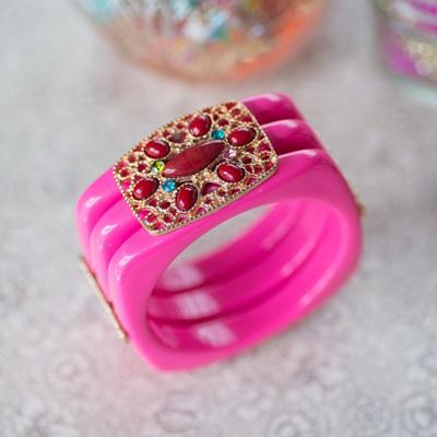 Pink Stacker Bangle