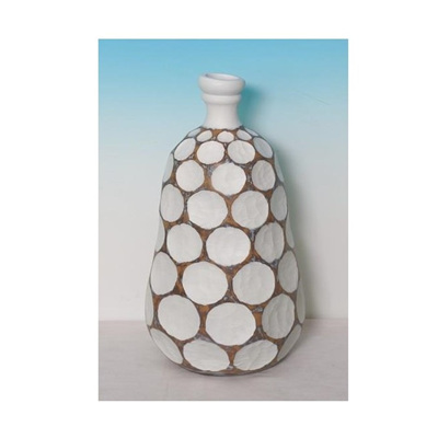 Pivot Vase - Natural/White 56cmh