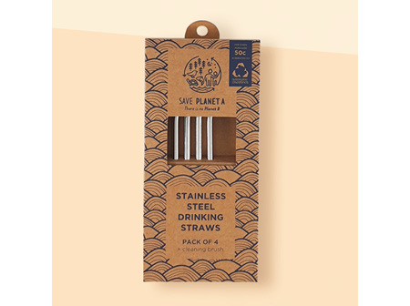 Planet A Stainless Steel Long Straws