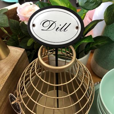 Planter Stick 'Dill' 33cm Metal