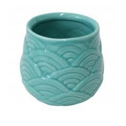 Planter Waves Seafoam