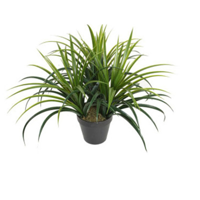 Plastic Grass with Pot - Green 50cm