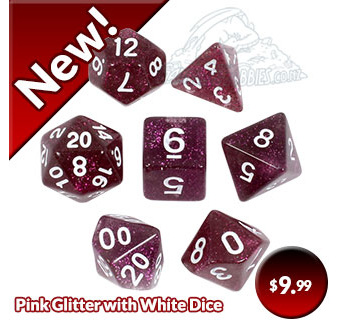 Plum Glitter Dice now Available