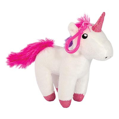 Plush Unicorn Keychain With Sound