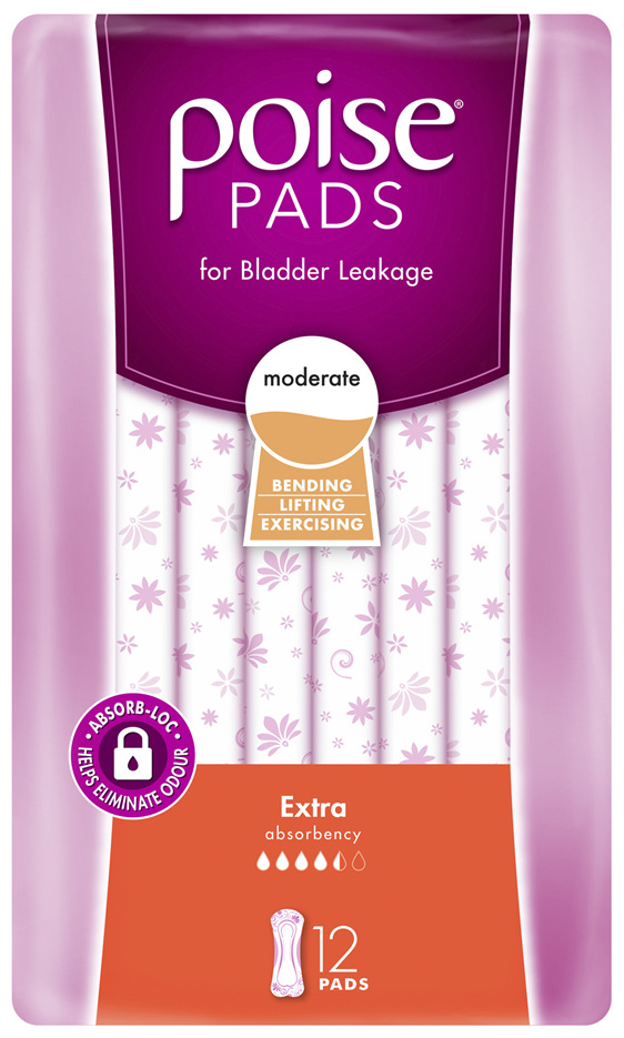 Poise Pads Extra 12 Pack