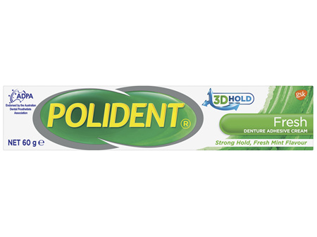 Polident Denture Adhesive Cream Fresh Mint 60 g
