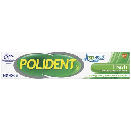 Polident Denture Adhesive Cream Fresh Mint 60 g