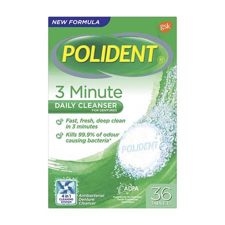 POLIDENT Express 3 Minute Denture Tabs 36