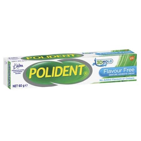 POLIDENT Flavour Free Denture Adhesive Cream 60g