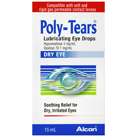 Poly Tears Lubricating Eye Drops 15mL