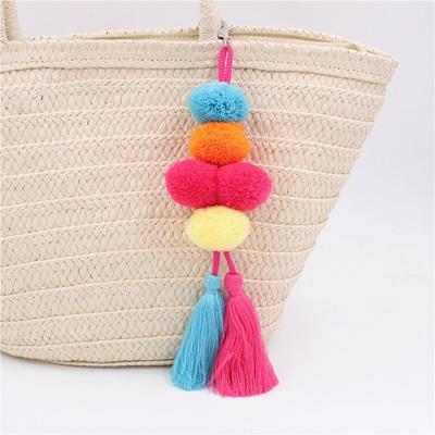 Pompom Tassel Bag Clip