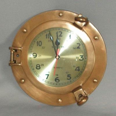 Port Hole Clock - Brass