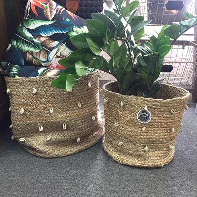 Pranay Jute Basket With Shells