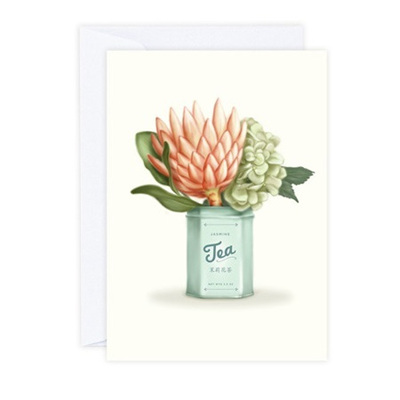 Pro-Tea Greeting Card