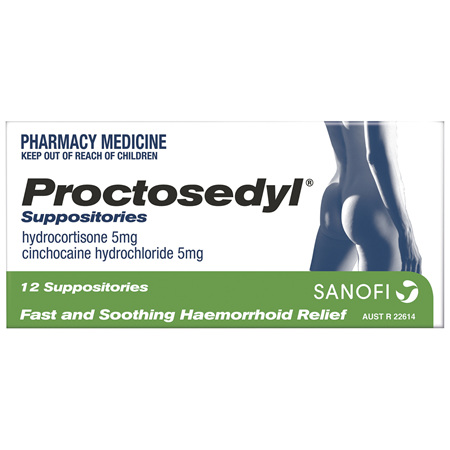 Proctosedyl Supposirory 5mg 12 Pack