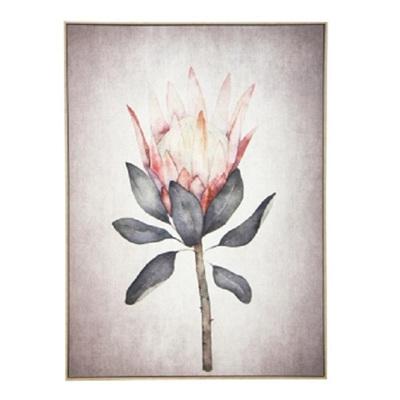Protea B Canvas Print - Natural Frame/100x140cm