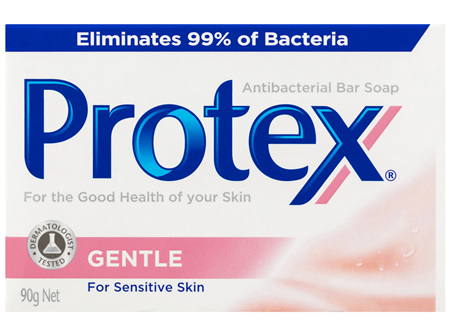 Protex Antibacterial Bar Soap Gentle For Sensitive Skin Dermatologist Tested Recyclable 90g