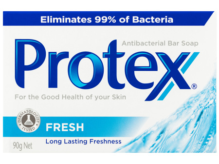 Protex Fresh Antibacterial Bar Soap Long Lasting Freshness Dermatologist Tested Recyclable 90g