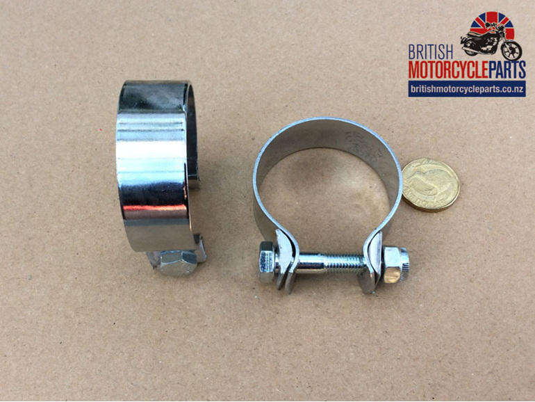 "PS163 Muffler Clamp 1 3/4"" Classic BSA Norton Triumph Spare Parts New Zealand NZ"