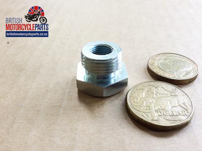 "PTA3818 Petrol Tap Adaptor - Steel 3/8"" BSP to 1/8"" BSP"