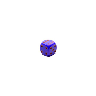 Purple and Red Six Sided Dice (12mm)