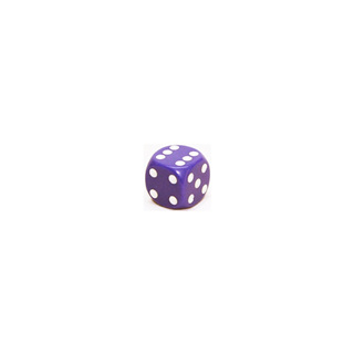 Purple and White Six Sided Dice (12mm)
