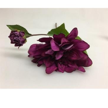 Purple Dahlia - Real Touch - 53cmh
