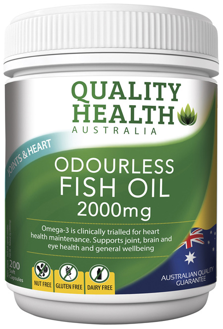 Quality Health Odourless Fish Oil 2000mg 200s