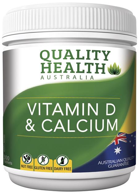 Quality Health Vitamin D & Calcium 300s