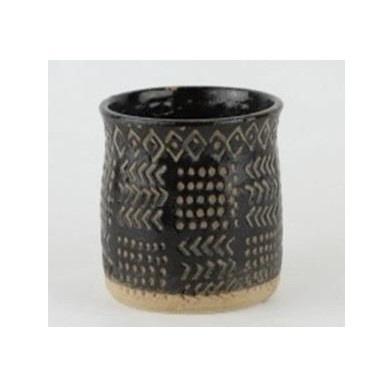 Quest Ceramic Planter - Black 14x14cmh