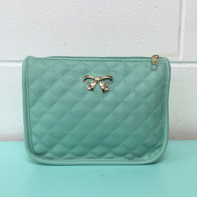 Quilted Bow Bag - Mint