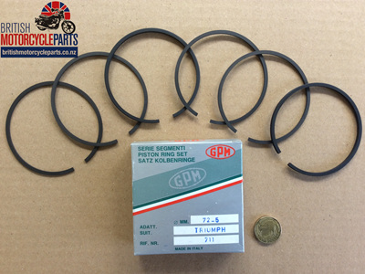 R11050/060 T120 TR6 Piston Ring Set +0.060 - 99-3784/060