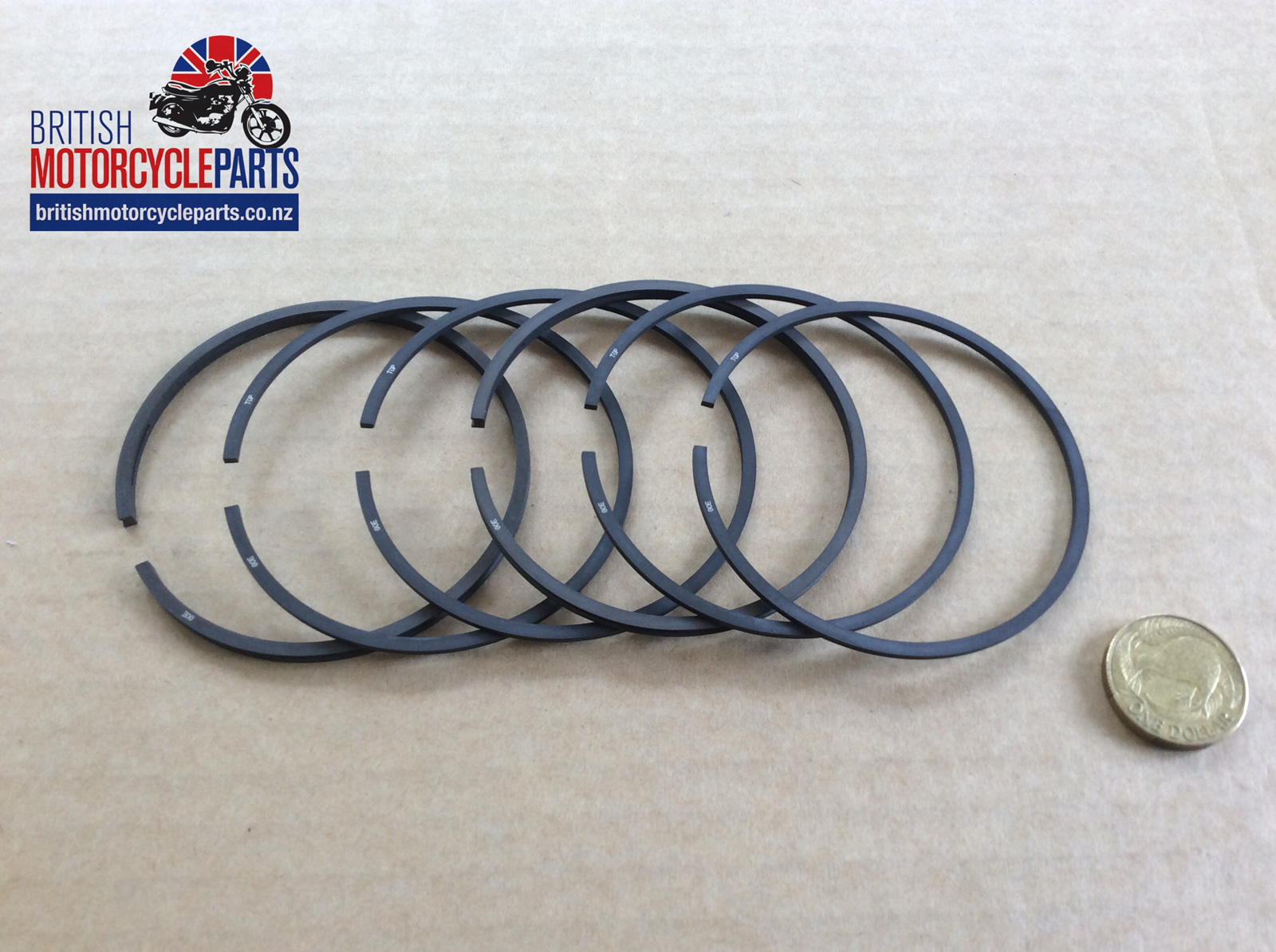 r13570 triumph 500cc piston ring set - t100 5ta rings - british