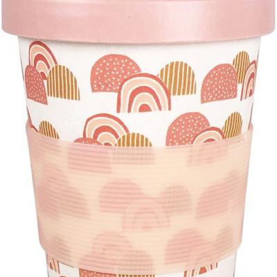 Rainbow Eco Mug White & Peach