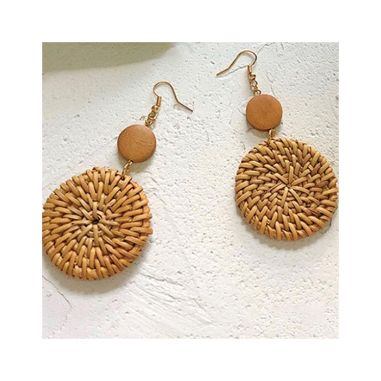 Rattan Earrings Full Disc