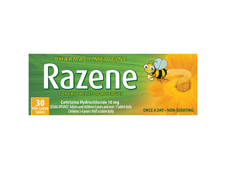 Razene Allergy Relief 10mg 30 Tabs