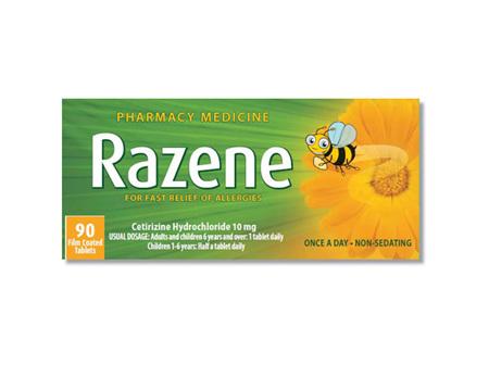 Razene Allergy Relief 10mg 90 Tabs