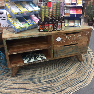 Reclaimed Wood 2 Drawer Entertainment Unit