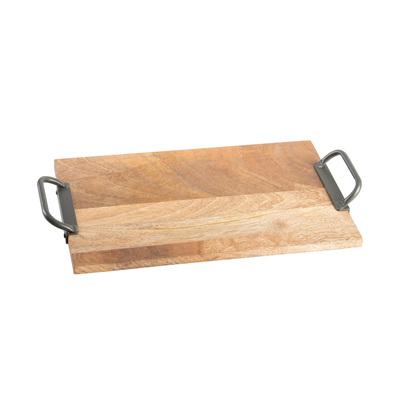 Rectangle Tray w Iron Handles - Small