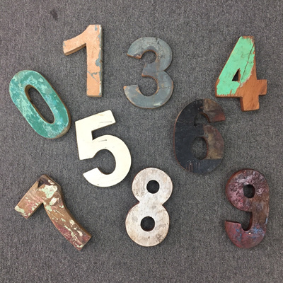 Recycled Boatwood Numbers